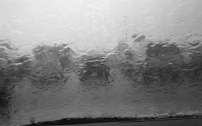 photography, rain, water, monochrome, glass