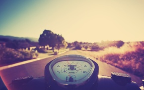 motorcycle, Sun, nature, driving, summer, photography