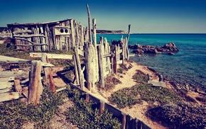 summer, photography, sea, coast, nature, rock