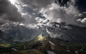 mountains, atmosphere, nature, Austria, landscape, sunlight