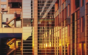 architecture, building, photography, reflection, sunset