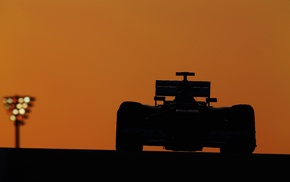 Kimi Raikkonen, photography, race cars, race tracks, dusk, Formula 1