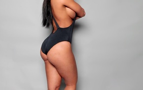 brunette, looking at viewer, Claudia Sampedro, Chicago Bulls, sideboob, tattoo