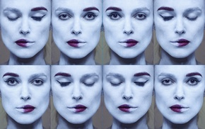 Keira Knightley, face, collage, actress
