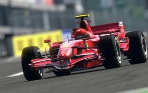 Gran Turismo 5, depth of field, car, Ferrari, Formula 1, video games