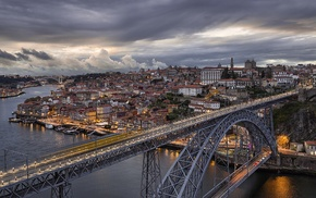 architecture, city, photography, clouds, river, cityscape