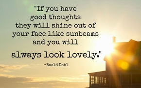 nature, quote, lens flare, writers, clouds, Roald Dahl