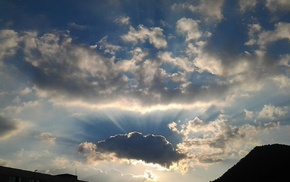 sky, clouds, sunlight, photography