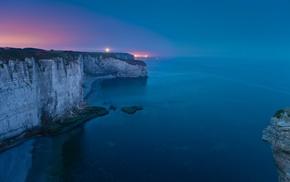 coast, sea, nature, photography, night, landscape