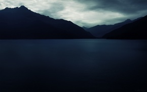 photography, dark, lake, landscape, water