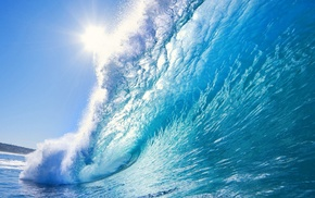 photography, sea, summer, waves, water, blue