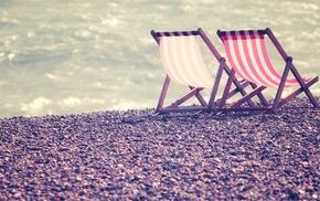 sea, beach, coast, photography, water, deck chairs