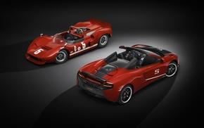 simple background, car, Convertible, McLaren 650S, McLaren M1B