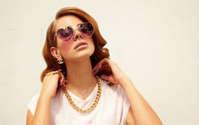 Lana Del Rey, girl, jewelry, singer, brunette, sunglasses