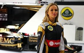 Formula 1, PDVSA, Driver, Carmen Jord, girl, Lotus