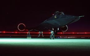military aircraft, aircraft, long exposure, SR, 71C, Lockheed SR