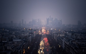 cityscape, Paris, building, road, urban, morning