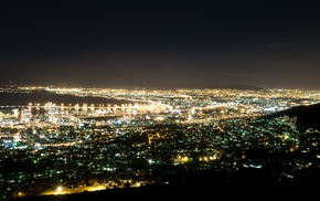 lights, photography, cityscape, Cape Town, urban, South Africa