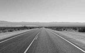road, nature, monochrome, landscape, photography, desert
