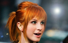 green eyes, Paramore, people, redhead, girl, Hayley Williams