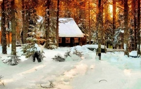 snow, classic art