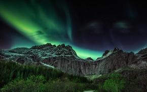 landscape, aurorae