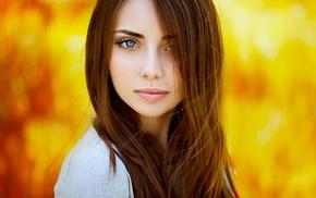 face, Ann Nevreva, blue eyes, Natalya, girl
