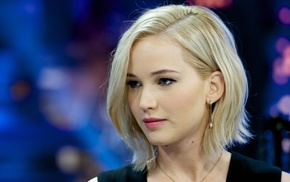 actress, blonde, Jennifer Lawrence, face, celebrity