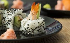 sushi, macro