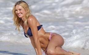 blonde, model, beach, bikini, girl, Candice Swanepoel