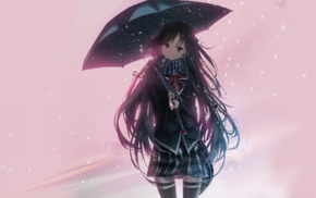 Yukinoshita Yukino, school uniform, anime, umbrella, anime girls, Yahari Ore no Seishun Love Comedy wa Machigatteir