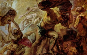 Peter Paul Rubens, painting, classic art, artwork, Overthrow of the Titans, Greek mythology