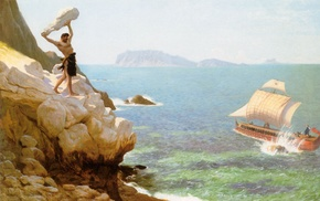 Polyphemus, artwork, painting, Greek mythology, Jean, Lon Grme