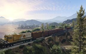 Grand Theft Auto V, train