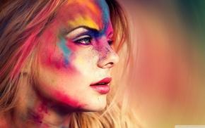 eyes, blue eyes, people, colorful, girl, face