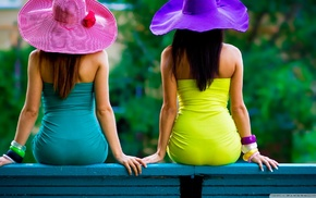 hat, back, summer, colorful