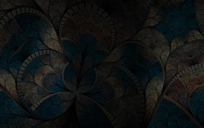 fractal flowers, abstract, dark, digital art, fractal