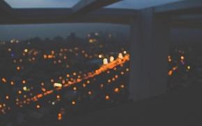 urban, lights