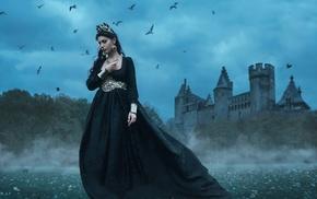 castle, girl