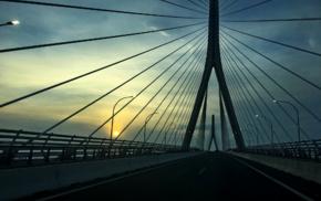 Greece, Rio, Antirio Bridge, bridge