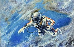 artwork, USSR, astronaut