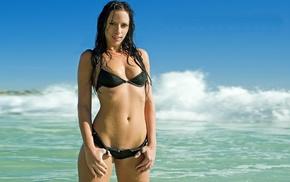 girl outdoors, model, girl, beach, Wicked Weasel, bikini