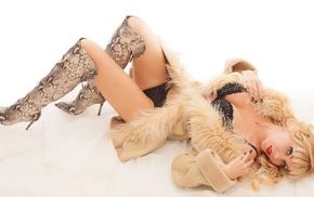 model, boots, blonde, girl