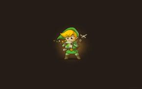 simple background, The Legend of Zelda, video games, fantasy art, Link