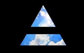 triangle, clouds, Jared Leto, 30 seconds to mars, Mars, Thirty Seconds To Mars
