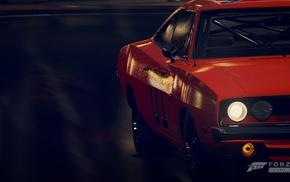 Forza Motorsport, orange cars, Forza Horizon, Forza Horizon 2, Dodge Charger RT, night