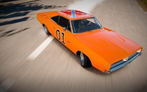 orange cars, Forza Horizon, Forza Horizon 2, Charger RT, drift, Forza Motorsport