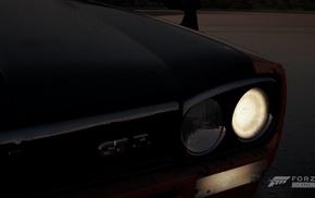 nissan gt 2000, Forza Horizon 2, Forza Motorsport, night, Nissan, lights