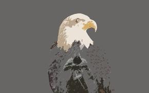 Assassins Creed, Ezio Auditore da Firenze, simple, eagle, simple background