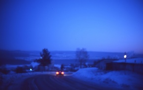 nature, winter, landscape, blurred, road, photography